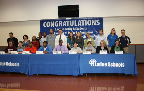 Ladue seniors sign college athletic commitments on National Signing Day