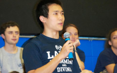 Enze Chen, captain of the Ladue swimming team, talks about the team at Blue and White Night.