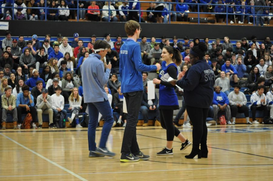 Ladue+High+held+a+spirit+week+and+pep+rally+from+Jan.+16-Jan.+19.++Students+Charlie+Loitman%2C+Trey+Fruend%2C+Lily+Hauptman%2C+and+Ope+Falako+narrate+the++pep+rally+as+leaders+of+student+council.+